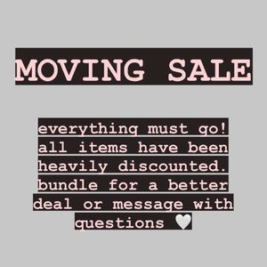 🤍 MOVING SALE 🤍
